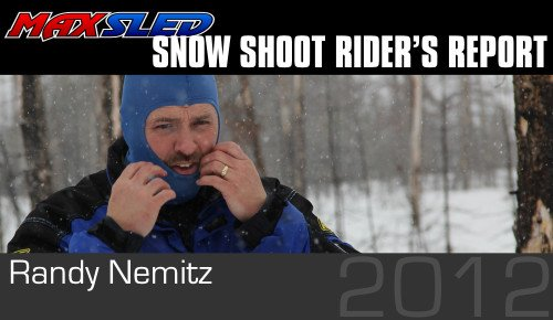 Randy Nemitz getting ready to ride a 2012 snowmobile.