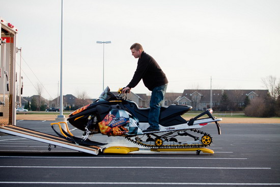 SledEZ Makes Storing and Moving Your Sled    Well Easy