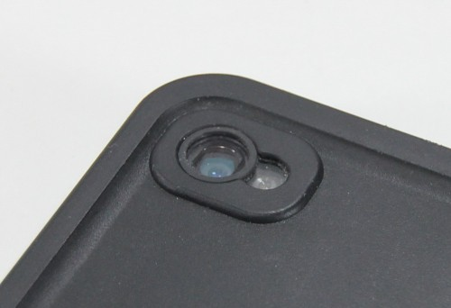Double anti-reflective coated glass lens built into the LifeProof case