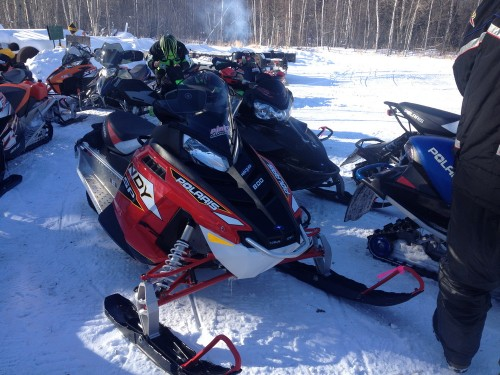 MaxSled's 2014 Polaris 800 Indy SP out for the 2014 Pink Ribbon Ride.