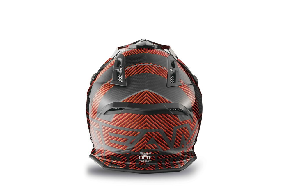 Arctic Cat MX Sno Cross Helmet - Orange back