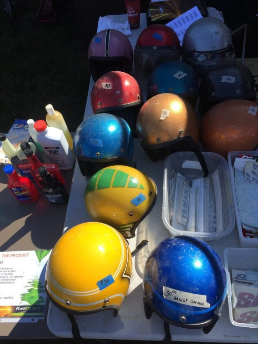 table-full-of-vintage-helmets