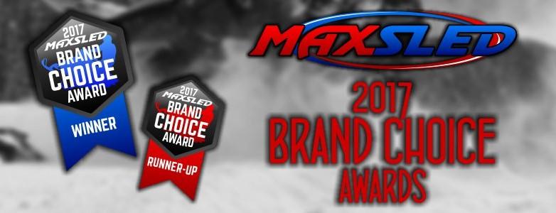 MaxSled 2017 Snowmobile Brand Choice Awards