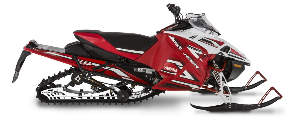 "Sidewinder L-TX LE with shorty windshield, 137"" x 1.25"" ripsaw II track, heated seat, and Fox Zero QS3 Kashima shocks."