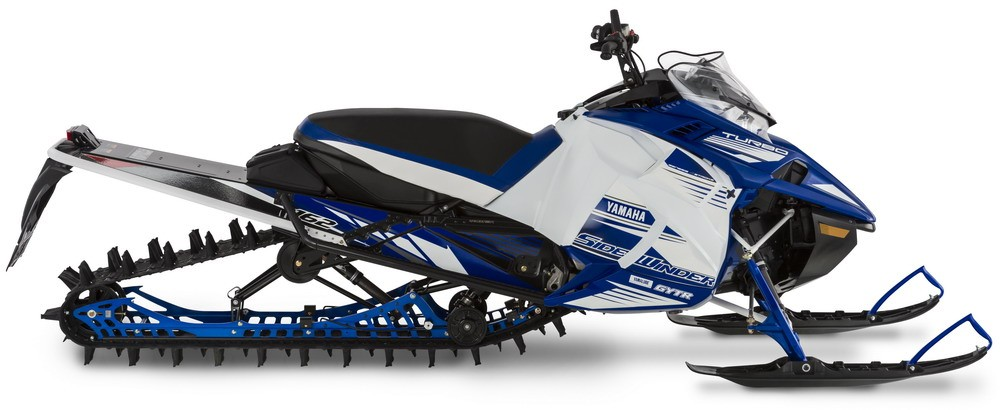 """Sidewinder M-TX SE with 36"""" wide stance, 162"""" x 3"""" Powerclaw track, and Fox Float 3 shocks."""