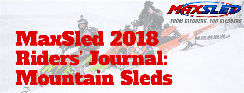 MaxSled Riders' Journal: Mountain